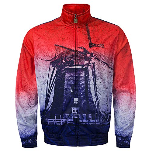 100% Hardcore Print Trainingsjacke Holland, Techno Gabber Sportjacket (S)
