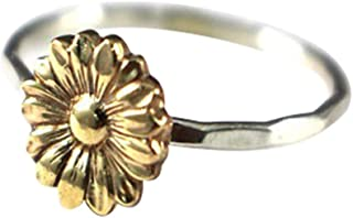 Colorido Wedding Vintage Sunflower Party Engagement Slim Finger Ring Jewelry