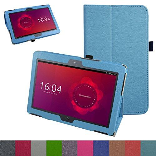 MAMA MOUTH bq Aquaris M10 Funda, Slim PU Cuero con Soporte Funda Caso Case para 10.1' bq Aquaris M10 FullHD FHD HD/Aquaris M10 Ubuntu Edition Android Tablet,Azul