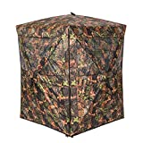 Vulture Pop-up Portable 2 Person Ground Hunting Blinds, 48 x 48 x 65 inches Camo Pattern Oxford...