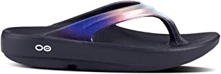 Women's OOlala - Post Run Sports Recovery Thong Sandal - Black/Calypso - W9