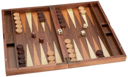 Philos 1144 - Backgammon 39 Wurzelholz, Intarsie, medium (KASTOS) - [Importato da Germania]