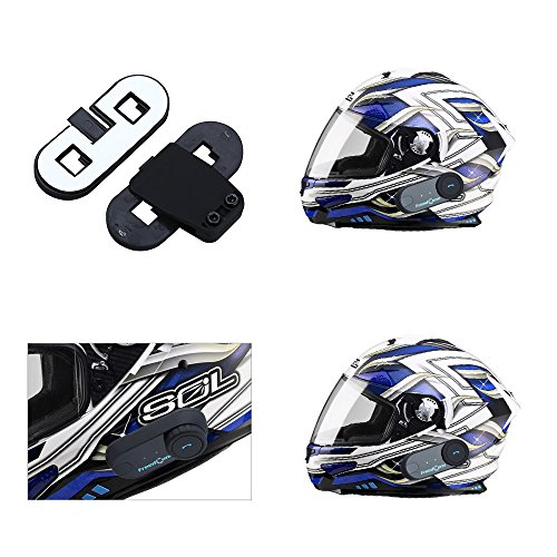 Blueskysea New version 2 X BT interphone Bluetooth Motorbike Motorcycle helmet intercom Headset 800M rider to pillion (2 X BT interphone)