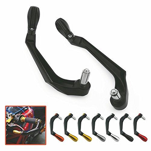 Heinmo Universal New 100% aluminio freno embrague palanca manguitos protector protector de la mano para la motocicleta Racing Dirt Bike protector de la mano 22 mm Negro