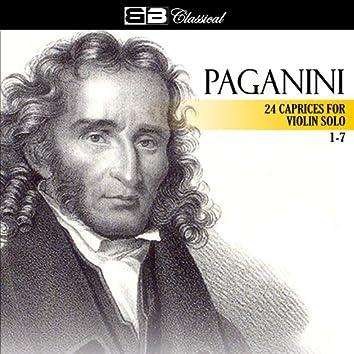 Paganini 24 Caprices for Violin Solo 1-7