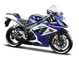 Maisto Suzuki GSX R750: Originalgetreues Motorradmodell im Maßstab 1:12,mit Federung und...