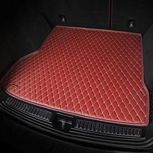 Hunulu Funda para Maletero De Coche para VW Passat Golf Touran Tiguan Sharan Variant Multivan Scirocco Magotan Alfombrillas para Maletero para Coche Protector Maletero Accesorios De Coche-Rojo Vino
