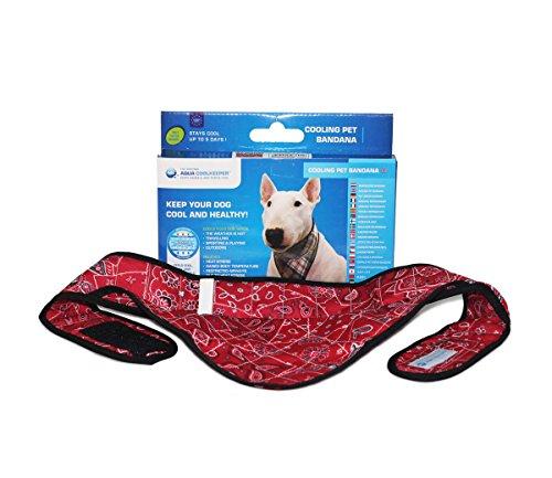 Kühlendes Bandana für Ihren Hund ind Red Western Größe M