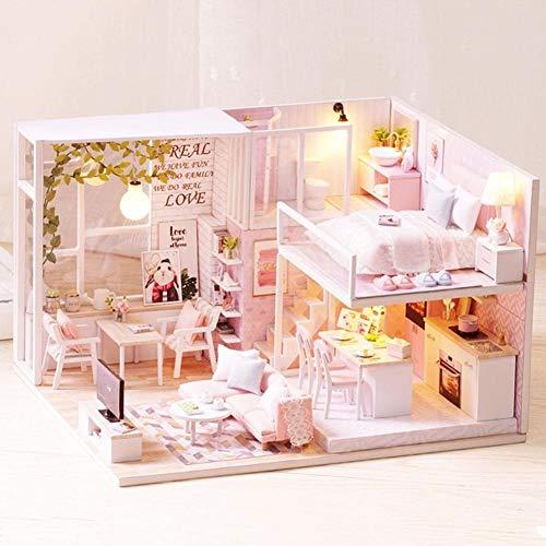 Zerodis Miniatura in Miniatura della casa delle Bambole in Scala 1:24, Kit per la casa delle Bambole in Miniatura di mobili a Mano Creativa in Miniatura per Bambini Piccoli