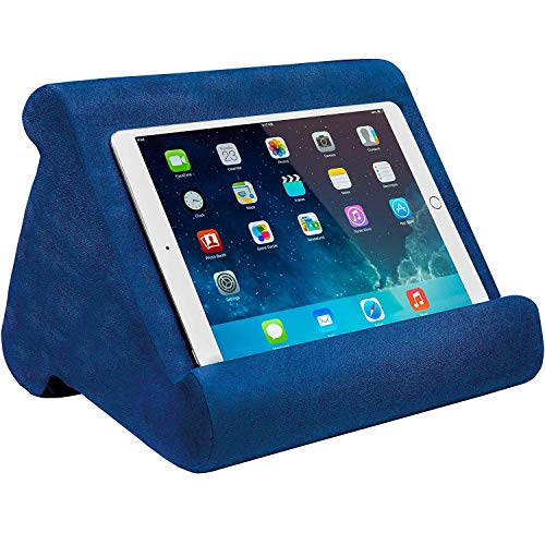 Prtukyt Multi-Angle Soft Pillow Lap Stand for iPads, Tablets, eReaders, Smartphones, Books, Magazines (Blue)