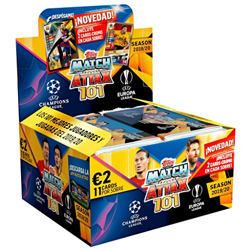 Topps- Display 24 Unidades de: sobre 11 Cartas Champions Match Attax 101, Color (66208D)
