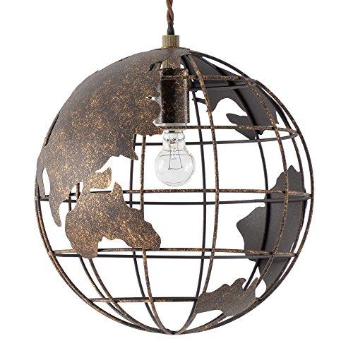 照明器具 ペンダントライト シーリングライト LED対応 地球儀モチーフ インテリアライト 照明 アンティーク