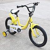 Aohuada - Bicicleta Infantil Unisex de 16 Pulgadas (Amarillo)