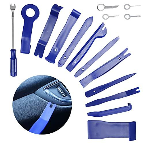 S-jiang Auto Werkzeug,16 Stück Demontage Werkzeug, Zierleistenkeile Verkleidungs Werkzeug für Innen-Verkleidung Ausbau Modifikation Set