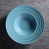 Jkckha. Ceramica Cappello di paglia Ins da tavola prima colazione semplice occidentale posate Piatto Fondo 10.5 pollici