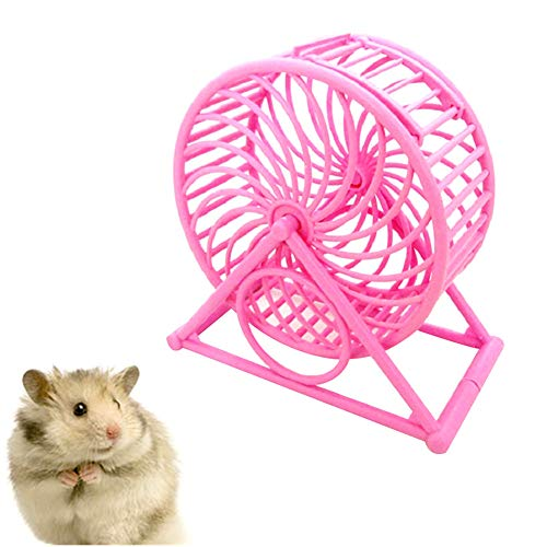 MEISISLEY Roue pour Hamster Roue Hamster Hamster de Roue Silencieux Hamster dans Une Balle Jouet Hamster Ballon d'exercice Silencieux Hamster Roue Pink
