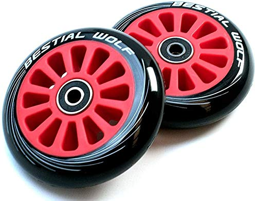 Bestial Wolf Pilot XX2 Pack Dos Ruedas Originales Diámetro 100 mm para Scooter Freestyle (Red)