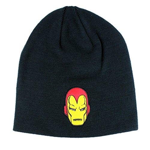 Iron Man Marvel Comics - Gorro de punto para hombre, color negro
