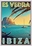 StickIt2Me Es Vedra Ibiza Art Deco Retro Reise Poster A3