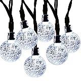 Solar String lights,CMYK LEDs Crystal Ball LED String Lights