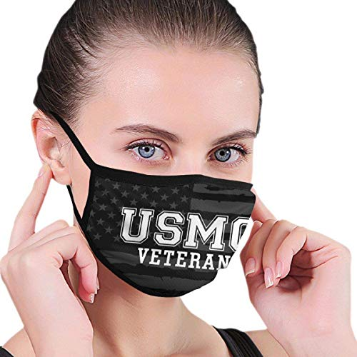 Mouth Masks Usmc Veteran Logo Multifunctional School Washable Fashion Reusable Outdoor Earloop Headwear Work Balaclava Face Covers Colorful Printing Cycling Winter