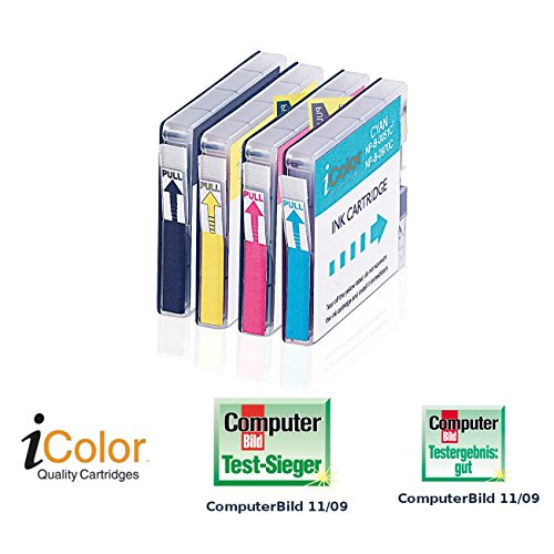 iColor i Color Druckerpatronen: Color-Pack für Brother LC970+LC1000 BK/C/M/Y (Brother Dcp 150c)