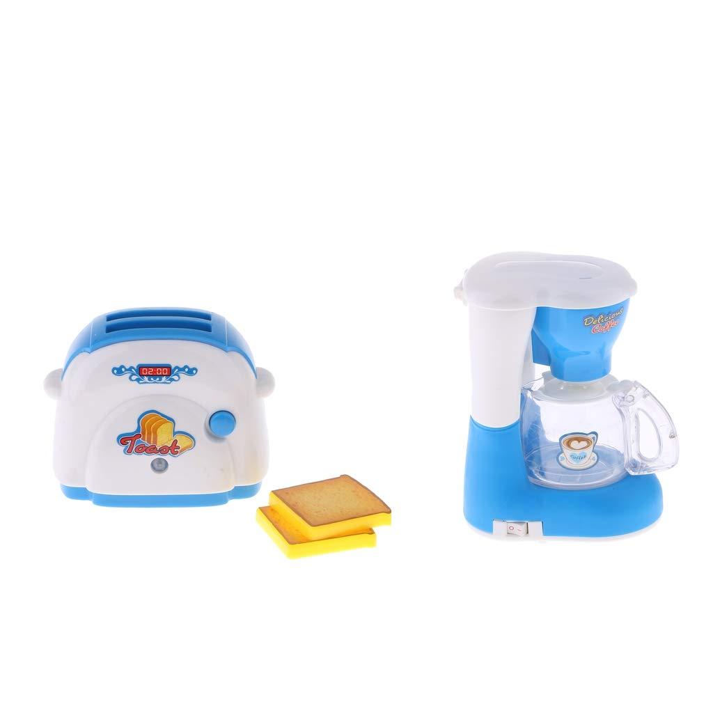 perfeclan Juguete De Plástico para Niños De Electrodomésticos para El Hogar - Máquina para Hacer Pan Y Cafetera: Amazon.es: Juguetes y juegos
