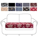Mecerock Printed Stretch Couch Seat Cover Sofa Cushion Removable Washable Soft Spandex Furniture Protector for Loveseat Couch Sofa Seat Cover Sofa Slipcover Flexibility with Elastic