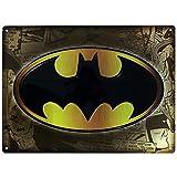 Cartel de chapa con logo de Batman DC Comics 3D (38 x 28 cm)...
