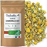 Chabiothé - Fleurs de Camomille BIO (Matricaria chamomilla L) 100g - matricaire conditionné en France