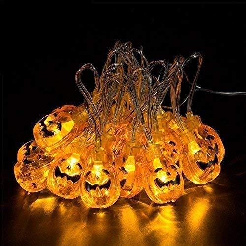 Solar Halloween Lights with led Pumpkin Light,Jack o Lantern Light 33ft 50LEDs,Orange Halloween Lights Outdoor for Patio, Garden,Parties (IP65 Waterproof,8 Light Modes Warm White)