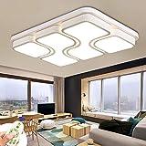 MYHOO 78W LED Regulable Luz de techo Diseño de moda moderna plafón,Lámpara de Bajo Consumo Techo para Dormitorio,Cocina,oficina,Lámpara de sala de estar,Color Blanco (78W Regulable)