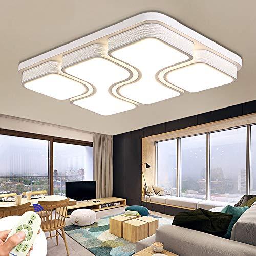 MIWOOHO 78W Modern Design LED Deckenlampe Dimmbar mit Fernbedienung LED Deckenleuchte Wohnzimmer Lampe Schlafzimmer Küche Leuchte [Energieklasse A++]
