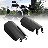 HIYOYO Motorcycle Hand Guards Black Coffin Cut Handguards Windshield for Harley...