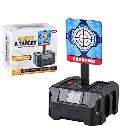Blanco de tiro electrónico 3 objetivos Juguete para niños Restablecimiento automático Luz inteligente Efecto de sonido Objetivo de puntuación Juguetes de juegos de disparos con reinicio automático par
