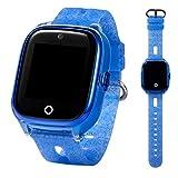 ON WATCH Smartwatch Kids GPS + WiFi + Lbs + Agps con Scheda SIM, Fotocamera, Sveglia, Chat, Tracker di attività e Molto Altro Ancora Guarda Le Ragazze per Tenere d'occhio i Tuoi Figli (Blu)