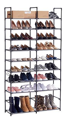 ORAF Shoe Rack 10 Tier Shoe Tower Organizer, 50 Pair Shoe Racks with Waterproof Dustproof Tight...
