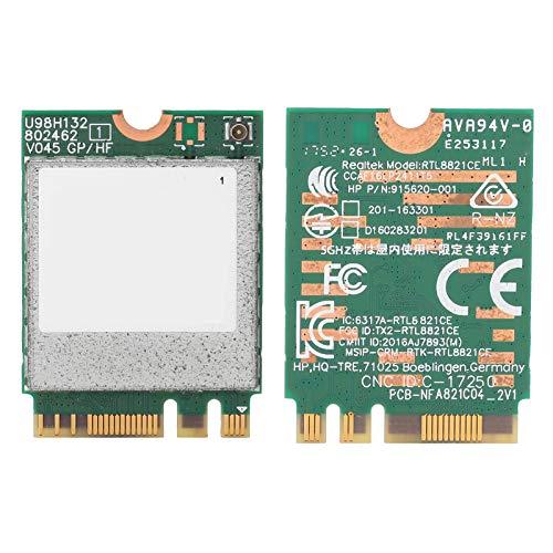 Annadue Scheda di Rete Wireless RTL8821CE per HP ProBook 450 G5 Serie PB430G5, Adattatore Combinato Wi-Fi + BT4.2, Facile da trasportare e riporre.