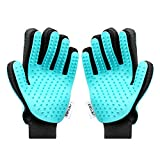 Zellar Pet Dog Cat Grooming Glove, [Upgrade Version] Pet Hair Remover Mitt Massage Deshedding Glove Brush for Long Short Fur Dogs Cats Rabbits Horses and More(1 Pair)