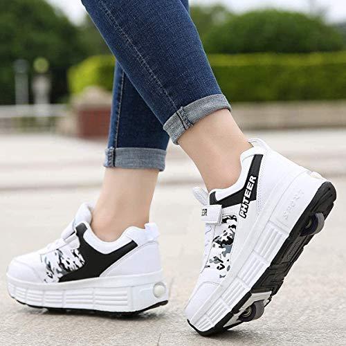 Zapatillas Con Ruedas Zapatos De Patinaje Sobre Ruedas Zapatos De Polea Patinaje Técnico Retráctil...