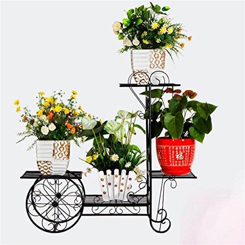 Cadre floral/Support pour plantes d'extérieur / 4 niveaux Flower Racks-Style européen Iron Metal étagère debout pour plante fleur Pot Stable Plant Stand Support fermement jardin étagère de rangement