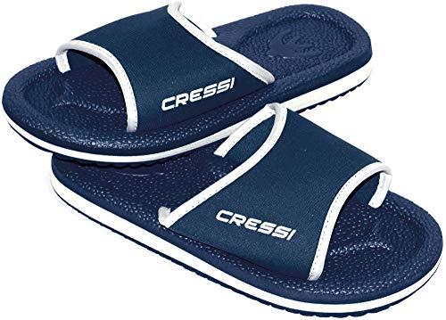Cressi Lipari - Slipper für Strand und Schwimmbad - Erwachsene und Kinder,Mehrfarbig (Blau/Gelb), 45 EU
