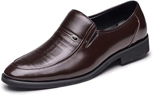 SPLNWTFHCNWPCB Frühling Herren Business Kleidschuhe Leder Herrenschuhe von England atmungsaktive Schuhe und Papa Hochzeitsschuhe Leder-Schuhe