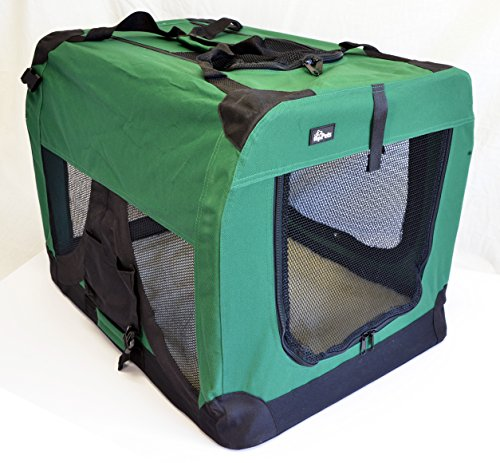 "topPets Portable Soft Pet Carrier - Large: 28""x20""x20"" - Moss Green"