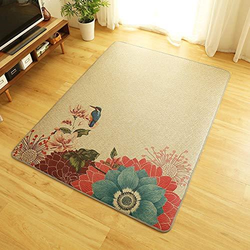 Gangkun Tapijt, Nordic woonkamer, slaapkamer, rotan, tapijt, Japanse stijl, tapijt op maat, tatami, vloermat, glazen deur