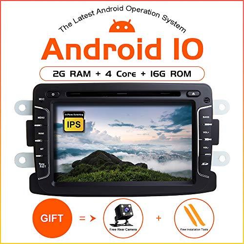 ZLTOOPAI Android 10 Autoradio für Renault Duster Dacia Logan Sandero Xray 2 Autoradio DVD-Player Audio GPS mit DSP IPS Display WiFi OBD SWC