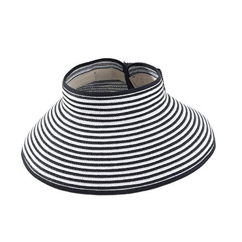 Montloxs Sombrero de Playa para Mujer con Visera Enrollable Ajustable de ala...