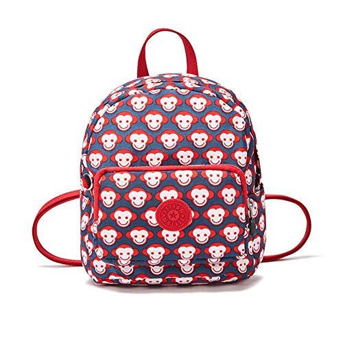 SAMJGF Leisure Backpack Small Backpack Casual Bag Fashion Mini Bag Backpack Multi-Function Shoulder Bag, 24 Red Face Monkey