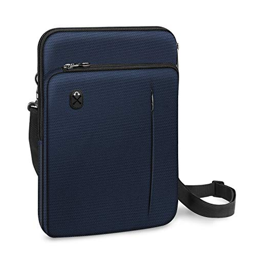 FINPAC 12.9-13 Inch Tablet Laptop Sleeve Case, Briefcase Shoulder Bag for 12.9\' iPad Pro 2018-2020 / MacBook Air 13 2018-2020 / MacBook Pro 13 2016-2020 / Surface Laptop Go/Surface Pro X/7/6/5-Navy