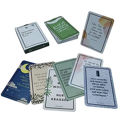 SCHREIBLICHKEIT® Motivationskarten | Persönlichkeitsentwicklung | Motivation & Fokus | positives Mindset | Affirmation Coaching | mehr Achtsamkeit | Plastikfrei | 31 Karten (ohne Kartenständer)